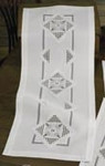 "630915 Permin Kit Table runner 12"" x 29"" ; Hardanger; 22ct"