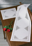 """103815 Permin Kit Table Topper (left) 11"""" x 11""""; Hardanger; 22ct"""