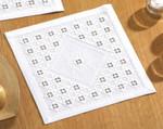 "104831 Permin Kit Table Topper 12"" x 12""; White Hardanger; 22ct"