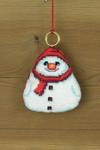 """016251 Permin Snowman 3.2"""" x 3.2""""; White Aida ; 14ct"""