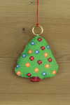 "016259 Permin Christmas Tree Ornament Brass ring included.; 3.2"" x 3.2""; White Aida ; 14ct"
