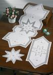 """104624 Permin Kit Star Hardanger  Table Topper (front left) 10"""" x 10""""; Hardanger; 22ct"""