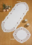 "635769 Permin Kit Flowers Table Runner (top) 12"" x 31.6"" ; Hardanger; 22ct"