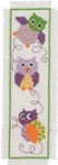 "056145 Permin, Kit Owl Bookmark Size: 2.8"" x 8.8"" Fabric: Ecru Aida Count: 14ct"