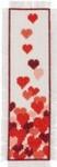 "056169 Permin Hearts Bookmark 2.8"" x 8.8"" Ecru Aida 14ct"