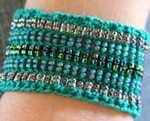 Stereo Cuff verdant (cotton) Nelkin Designs Knitting Kit
