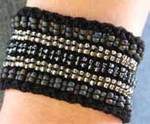 Stereo Cuff black (cotton) Nelkin Designs Knitting Kit