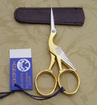 "Dovo 205353 3.5"" Embroidery Scissors Old Rose Gold"