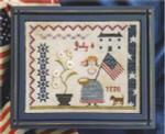 16-1717 SNF-0028 Fourth Of July Picnic 130w x 100h Samplers Not Forgotten