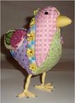 "Betsy Bird  7.5"" x 6""  Mesh Sew Much Fun 3D DESIGN"