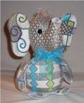 "Elmer Elephant 8.5"" x 7""18 Mesh Sew Much Fun 3D DESIGN"