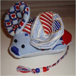"Fourth of July Mouse 5.5"" x 5.5""  Mesh Sew Much Fun 3D DESIGN"