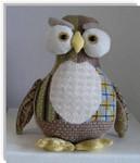 """Hooter Owl10"""" x 9"""" 18  Mesh Sew Much Fun 3D DESIGN"""