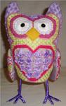 "Olivia Owl9"" x 5"" Mesh Sew Much Fun 3D DESIGN"