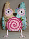 "Orchid Owl9"" x 5"" Mesh Sew Much Fun 3D DESIGN"