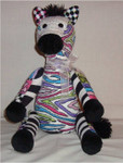 "Zoe Zebra 14.5"" x 10.5"" 18 Mesh Sew Much Fun 3D Design"
