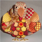"Talulah Turkey9"" x 8.5"" 18 Mesh Sew Much Fun 3D Design"