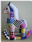 "Rocking Horse #2 17"" x 14""	14 Mesh Sew Much Fun 3D Design"