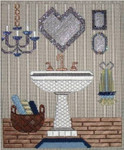 "Bathroom Sink 9.5"" x 8"" Mesh Sew Much Fun"