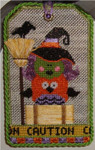 "Caution Tag 5.5"" x 3.5"" Mesh Sew Much Fun Halloween"
