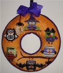 "Halloween Owl Wreath  7"" x 7""  Mesh Sew Much Fun Halloween"