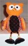 "Halloween Owl 6"" x 5""Mesh Sew Much Fun Halloween"