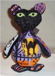 "Kitty Kat 10"" x 6""  Mesh Sew Much Fun Halloween"