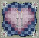 "Quilt Challah Cover12.5"" x 12.5""18 Mesh Sew Much Fun JUDAICA"