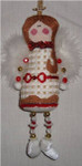 "Angel	5"" x 2.5"" 18  Mesh Sew Much Fun CHRISTMAS ORNAMENT"