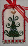 "Cindy Tree 5"" x 3"" 18  Mesh Sew Much Fun Tag"