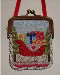 "Presents Purse 4"" x 3""  Mesh Sew Much Fun PURSE ORNAMENT"
