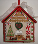 "Candy Cane Birdhouse	7"" x 6""  Mesh Sew Much Fun Christmas Birdhouse"