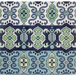 AP2739 Alice Peterson Blue & Green Dhurri 13 Mesh 12.25 x 11.75 !