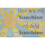 AP2751 You Are My Sunshine Lady Alice Peterson 13 Mesh 12 X 8 !