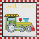 AP3652 Toot Toot Train Alice Peterson Design 13 Mesh 7.25 x 7.25 !