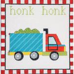 AP3657 Honk Honk Dump Truck Alice Peterson Design 13 Mesh 7.25 x 7.25 !