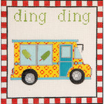 AP3660 Ding Ding Ice Cream Truck Alice Peterson Design 13 Mesh 7.25 x 7.25 !