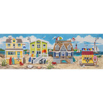 AP2727 Beach Houses Scene Alice Peterson 13 Mesh 18 X 6 !