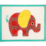 AP3643 Red Patterned Elephant Alice Peterson 13 Mesh 	 7 x 5.5 !