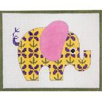 AP3644 Yellow Patterned Elephant Alice Peterson 13 Mesh 	 7 x 5.5 !