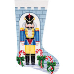 APHOME CREATIONS6204 Nutcracker Soldier Stocking Alice Peterson HOME CREATIONS !