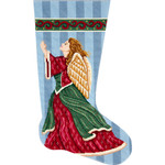 APHOME CREATIONS6205 Angel in Praise Stocking Alice Peterson HOME CREATIONS !