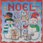 AP2741 Snowman and Family Alice Peterson 13 Mesh 6 X 6 !