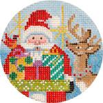 APX239 Santa & Reindeer Alice Peterson 13 Mesh 4″  !