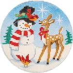 APX240 Snowman & Rudolph Alice Peterson 13 Mesh 4″  !