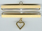 "35114 Lene Boje Bellpull Brass; Satin Finish with Heart; 14cm (5-1/2"")"