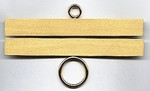 "78112 Lene Boje Bellpull Brass; Satin Finish; 12cm (4-1/2"")"