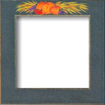 Mill Hill Frame Matte Green w/Pumpkins GBFRFA14