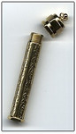 4111 Needle Case Embossed brass ; 3""