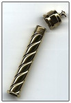 4109 Needle Case Spiral brass ; 3""